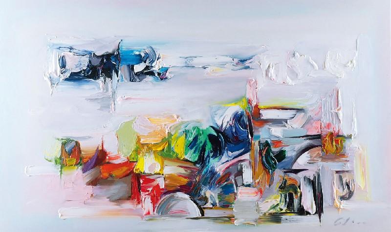 abstrakcja wystawiona w Rempexie